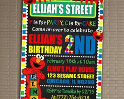 elmo invitation sesame street birthday
