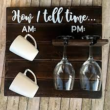 Coffee Cup Decoration Kitchen Pallet Coffee Cup And Wine Holder How To Tell Time Am Pm