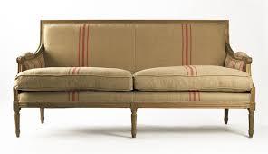 Louis Seize Chair St Germain French Style Red Stripe Linen Louis Xvi Sofa Kathy