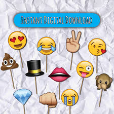 props for photo booth printable emojis photo booth props emojis 25 emojis digital