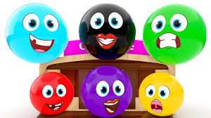 learn colors for children with funny face emoji candy house 3d