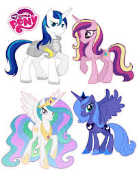 my little pony princess set luna cadence celestia removable zoom