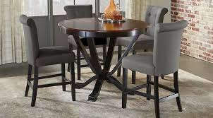 Bar Height Dining Room Sets Orland Park Black 5 Pc Counter Height Dining Set Dining Room