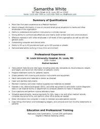 Free Medical Assistant Resume Template Assistant Resume The Best Resume