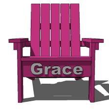 Plans For Wooden Outdoor Chairs by Ana White How To Build A Super Easy Little Adirondack Chair