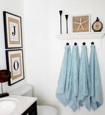 Bathroom Towel Hooks Ideas Towel Hooks Add Small Frames Above The Hooks Spray Paint White
