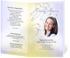 funeral program examples funeral card large tabloid booklet 7 25