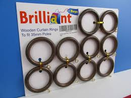 wooden curtain rings wood 5 colours 2 sizes bulk order multi antique walnut to fit 35mm pole 1 sample ring