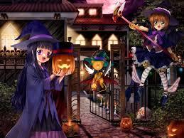 cute anime halloween wallpaper card captor sakura kinomoto sakura hat windmill