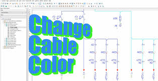 change cable color eplan electric p8 youtube