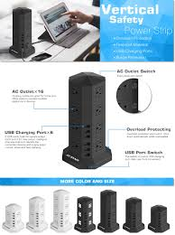 amazon server overloaded black friday jzbrain tower surge protector power strip 16 outlet 6 usb with 9 8