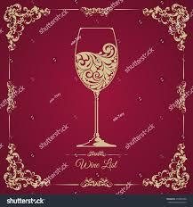 free wine list template menu card glass wine menu card design background royalty free stock photo image
