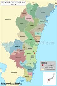 Map Japan Miyazaki Prefecture Map Map Of Miyazaki Prefecture Japan