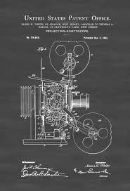home movie theater decor movie projector patent patent print wall decor movie poster