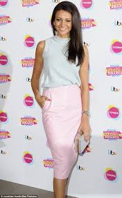 michelle keegan arrives separately from fiancé mark wright at