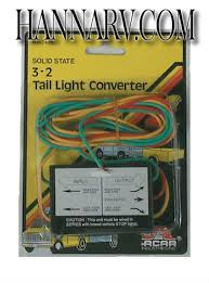 mme products pl 100hd trailer tail light converter 3 wire to 2