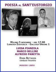 galleria unione 1 libreria esoterica 5 11 15 poesia al s eustorgio con m bellini a panetta