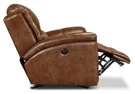 Brown Leather Recliner Chair Griffin Power Recliner Brown Levin Furniture