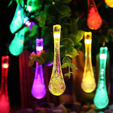 where to buy cheap fairy lights 30 led solar water drop fairy string lights solar garden string