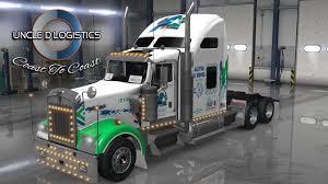 all kenworth trucks uncle d logistics all star dj service kenworth w900 skin mod
