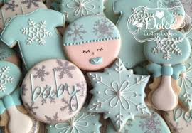 baby shower cookies winter baby shower cookies