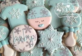 baby shower cookies winter baby shower cookies