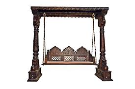 Living Room Jhula Indian Handcrafted Wooden Swing Indoor Jhoola Jhula Swing Set