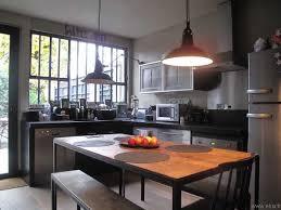 cuisine loft cuisine loft inox et bois