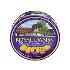 royal dansk cookies danish butter 12oz tin walmart com
