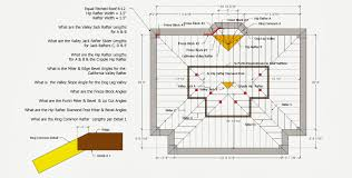 roof framing geometry hip valley roof framing example 1 roof framing geometry