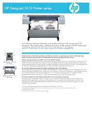 download free pdf for hp designjet t610 printer manual