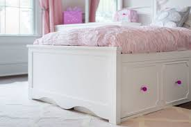 Bedroom Sets With Drawers Under Bed Adelaide Twin Captains Bed Drawers U0026 Cubbies White Craft
