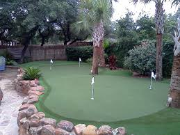 Putting Green In Backyard by Dave Pelz Synscapes Austin San Antonio Artificial Turf Golf