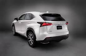 lexus nx 2017 2017 lexus nx white exterior rear side quarter carmagram