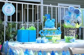 baby shower table ideas baby shower table centerpieces for a boy diabetesmang info