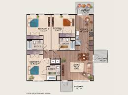 3 bedroom flat plan drawing the residences woodlands of charlottesville