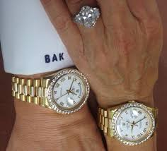 silver matching services his and hers matching rolex presidents 18 karat yellow gold