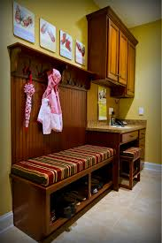 Small Desk Ac This Is A Custom Cherry Mudroom Area With A Small Desk And Boot