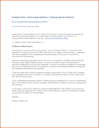 sample recommendation letter for student sponsorship letter