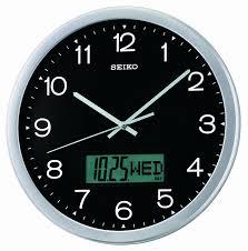 amazon com seiko qxl007alh wall collection analog digital clock