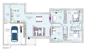 plan de maison plain pied 3 chambres avec garage plan de maison 100m2 plein pied 3 chambres avec garage plain co