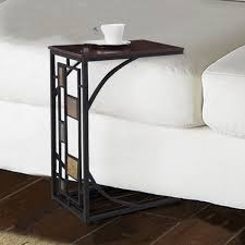 costway coffee tray side sofa table ottoman couch room console