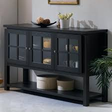 black buffet table