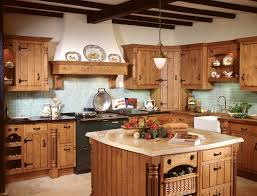barn wooden top rustic kitchen island with brick base panel also