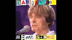Bowie Meme - david bowie meme school part ii fame youtube