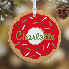 donut fun 1 sided personalized ornament christmas gifts