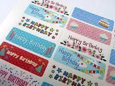 birthday card stickers ebay
