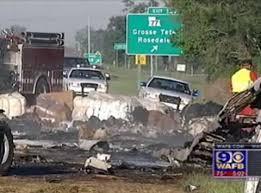 fatal semi truck accident near grosse tete la kills four truck