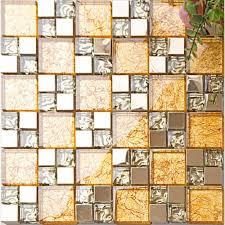 gold crystal glass tile backsplash ideas kitchen and bathroom