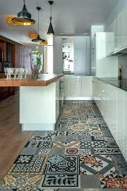 vinyle cuisine lino imitation carreaux de ciment sol vinyle cuisine revetement sol